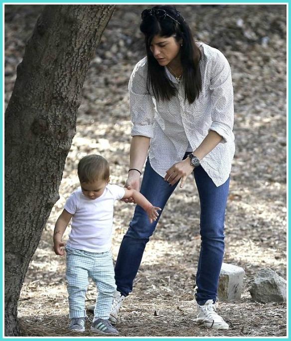 Selma Blair and son Arthur Saint Bleick at the park Feb 2013