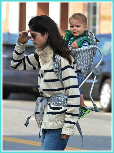 Selma Blair Backpacking With Baby Saint 8
