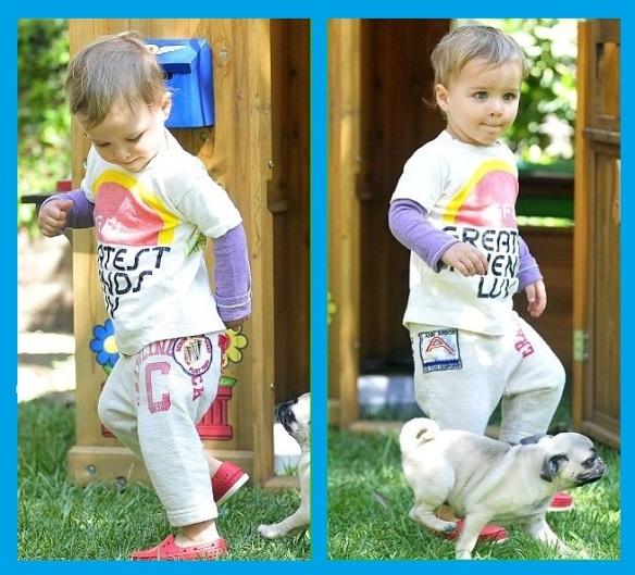 Arthur Saint Bleick With Mommy Selma Blair & Puppy