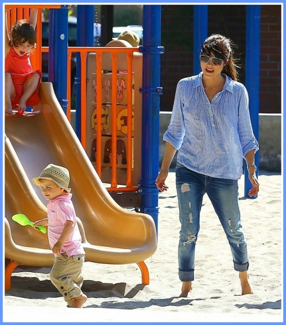 Selma Blair Spends Her Day With Baby Arthur 15