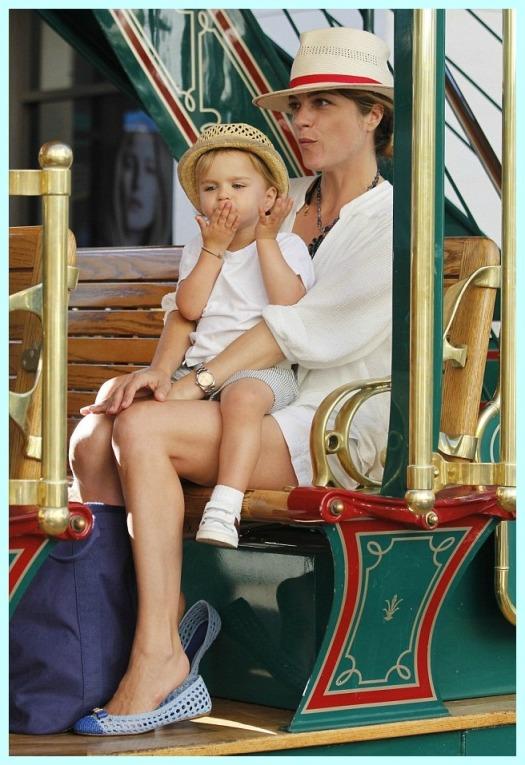 Selma Blair & Arthur Saint RidingTrolley At The Grove 1