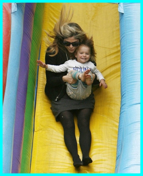 Selma Blair & Arthur Saint Super Slide 2