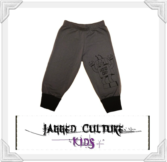 Jagged Culture Punk Kid Robot Knee Pants