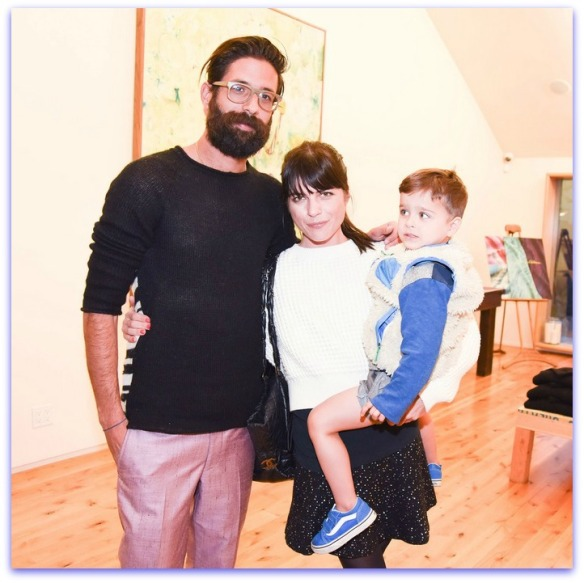 Selma Blair with son Arthur and Greg Chait